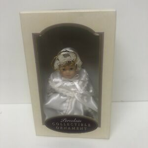 2000 DG Creations Porcelain Collectible Ornament Handpainted Poseable Doll