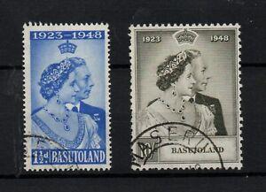 Basutoland 1948 KGVI Silver Wedding very fine used SG36-37 WS23687