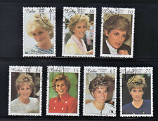 Princess Diana on Stamps 1998 Complete set from Cub, used,cto