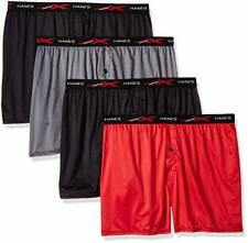 Hanes Men's X-Temp 4-Way Stretch Mesh Knit Boxer 4-Pack Assorted X Large