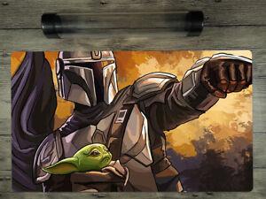 Star Wars: The Mandalorian Mat SW/YuGiOh/MTG... Custom TCG Playmat Free BestTube