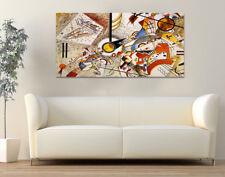 Quadro moderno Stampa su Tela Cotone cm.120x60 Astratto Kandinsky Aq Arredo Casa
