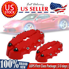 4Pc ABS 3D Style Car Universal Disc Brake Caliper Covers Front Rear Kit RED US