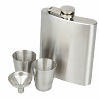 Portable Stainless Steel 7oz Hip Flask Flagon Whiskey Wine Pot Bottle Gift Kits