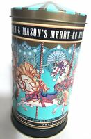 "Fortnum & Mason's Carousel Music Tin Box Embossed Tune Entertainer England 7""x4"""