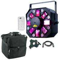 American DJ Stinger II 3-FX-IN-1 Moonflower Laser UV Effect Light + Case