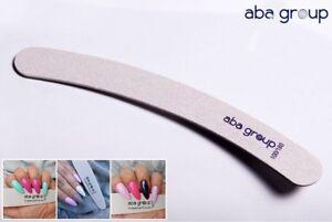 Nail Files Acrylic Gel Tips grits 100/180 - Banana x 3pcs Aba Group