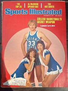 Sports Illustrated 1977 LARRY BIRD Basketball See Pics