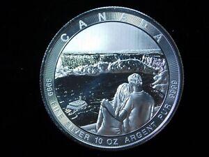 2017 Canada $50 Niagara Falls 10 oz .999 Fine Silver Coin in Capsule