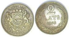 LATVIA 1925 2 LATI AND 1924 1 LATS