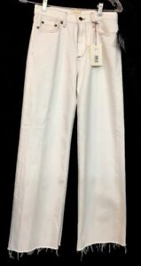 Simon Miller Wide Leg Jean Off White Gold Stitching Nwt Size 25