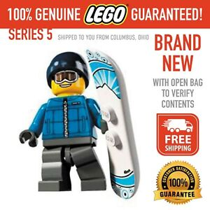 Lego Minifigures Series 5 - Snowboarder Guy - New with open bag - FREE SHIPPING
