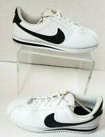 Nike Cortez Sz 4Y Unisex Shoes White w/Black 904764-102 Very Nice Pre-Owned Cond