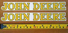 "Two (2) John Deere Fade Resistant Classic Vinyl Sticker Decals Farm 1"" x 7.75"""
