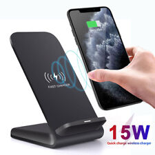 15W Qi Wireless Charger Fast Charging Stand For iPhone 11 Pro Max Huawei P30 Pro