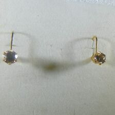Champagne Colored 6 mm Czs Earrings 14K Gold Filled Lever-back Cz Earrings,