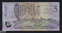 R-214.  (1992) Fraser/Cole..5 Dollars.. Prefix AB 16..  UNC - Pale Green Serials