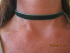 "green  Velvet ribbon Choker 13""  adjustable gothic boho chic retro 90' Necklace"