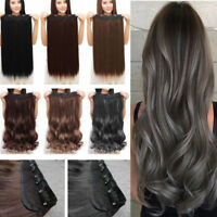 100% Real as remy human Hair Clip in 3/4 Full Head Hair Extensions Extentions FR