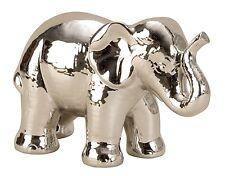 escultura moderna Elefante Figura decorativa hecho de cerámica en plata altura