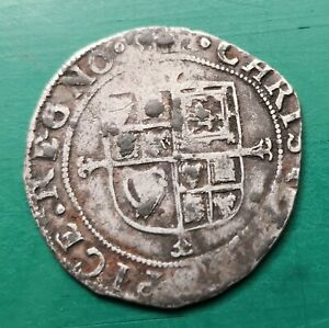 Charles the first sixpence silver coin #625