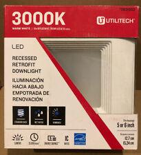 "UTILITECH 0831953 LED Recessed Retrofit Downlight 3000K fits 5"" & 6"" Housing"
