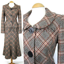 Wool Check Calf Length Women's Suits & Tailoring