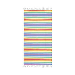 Rainbow Colorful Beach Towel, 100% Turkish Cotton Soft Bath Towel by Hencely