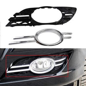 Front LH Fog Light Grill Chrome Trim Cover For Mercedes-Benz E-CLASS W211 07-09