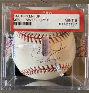 """Cal Ripkin Jr Sweet Spot Baseball PSA 9 🔥""""IRONMAN""""🔥 -signature-"""