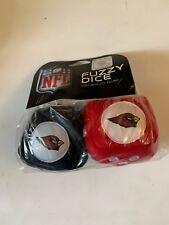 NFL Arizona Cardinals Team Fuzzy Dice NFL Football Team Logo Plush Car, NEW