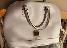 Dooney & Bourke Genuine Leather Large Purse Handbag Satchel Shoulder Bag EUC