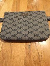 $78 Michael Kors MK Logo Grey/Brown Fanny Pack Belt Bag 552744 Size XL