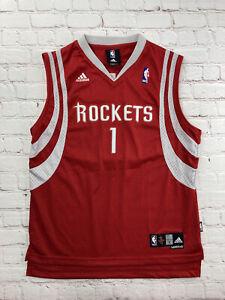 "Adidas NBA Houston Rockets Tracy McGrady Swingman jersey Youth Boys Large +2"""