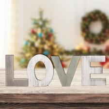 Love Sign for Home Decor Wooden Love Block Letters Rustic Tabletop Words
