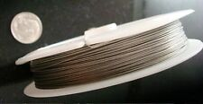 "Tiger tail beading wire 328 ft 100 meters .38mm .015"" dia stainless steel tt101"
