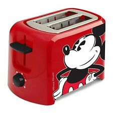Disney Classic Mickey Mouse small Toaster red kids kitchen Accessories NEW