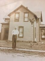 Postcard, Real Photograph Man House Winnipeg? Manitoba Canada Vintage P57