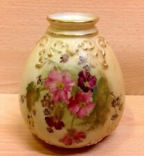 "Royal Worcester Blush Ware ""Floral Study"" 1254 Vase Dated 1917."