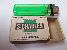 Ancienne boite allumettes vide - Ecole St CHARLES - Peruwelz - BELGIUM