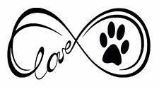 Love paw Decal / Sticker
