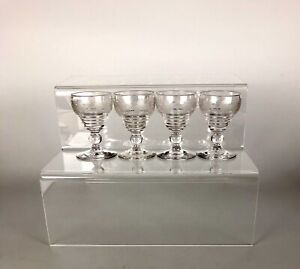 An Early 20th Century (1921) Set Of Stuart Crystal Acid Etched Wine Glasses