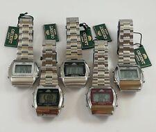ORIENT Digital Chronograph Original JAPAN Watch Light Alarm All Stainless Steel