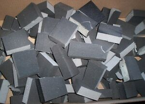 100 x  FINE GRADE SANDING BLOCK OFF-CUTS Model /Crafts READ IN FULL BEFORE BUY