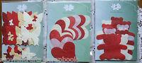 DIE CUTS RED - Hearts, Teddies, Butterflies - Hand Made Paper Choice GreenTara E