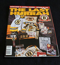 September 29, 1995 Boston Bruins vs Montreal Canadiens - The Last Hurrah