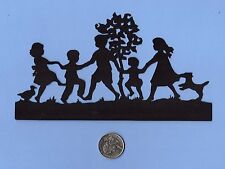 Cricut Silhouette Ring Around the Rosies Die Cut - Dancing Children Die Cut