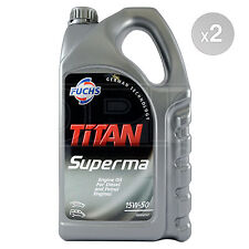 2 x 5 Litres - Fuchs Titan Superma 15W-50 Engine Oil 15W50 5L