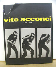 Vito Acconci by Kate Linker 1994 HB/DJ First Edition