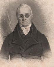 1825 DATED GEORGIAN PRINT ~ REVEREND DANIEL WASHBURN HAMMERSMITH ~